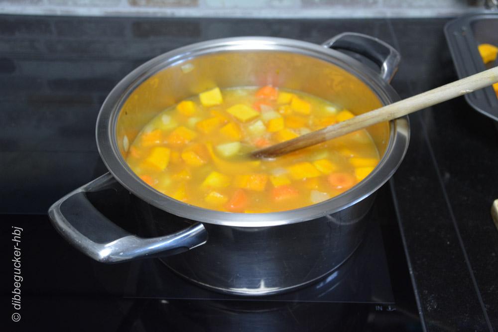Aufgefüllt mit Gemüsefont